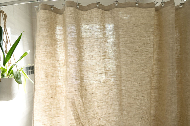 Bean Products Natural Hemp Shower Curtain - Natural Linens