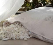 Healthy Body Head to Toe Shredded Rubber Filled Pillow with Organic Cotton Cover - Natural Linens