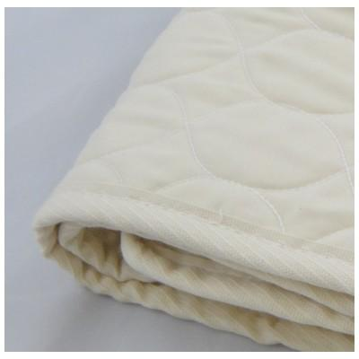 Healthy Body Head to Toe Organic Cotton Quilted Mattress Pad - Machine Wash/Dry - Natural Linens