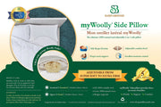 Sleep & Beyond myWoolly® Side Pillow - Natural Linens