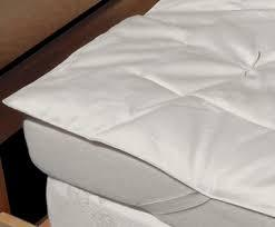 "Healthy Body Head to Toe EcoWool Filled Organic Cotton 3/4"" Hand Tufted Mattress Pad - Natural Linens"