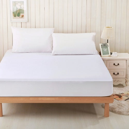 Dreamtex Greenzone Sleep - Bamboo from Viscose Jersey Waterproof Mattress Protector - Natural Linens