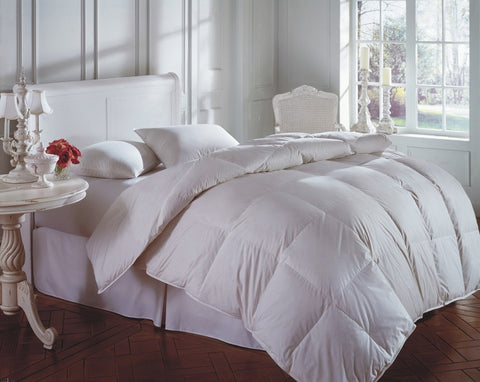 Downright Cascada Summit White Goose Down Comforters - Natural Linens