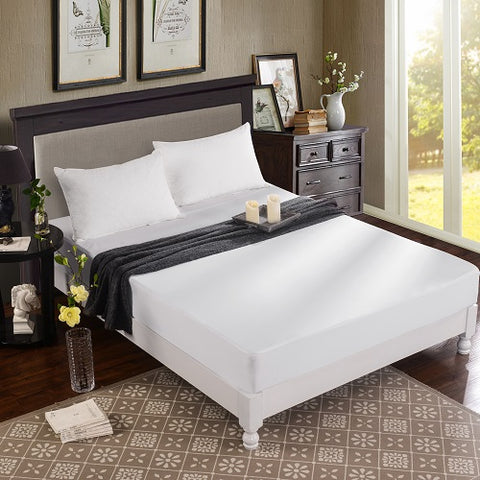 Dreamtex Greenzone Sleep - Bamboo from Viscose Terry Waterproof Mattress Protector - Natural Linens
