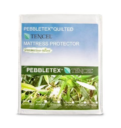 Dreamtex Greenzone Pebbletex™ TENCEL® Waterproof Mattress Protector - Natural Linens