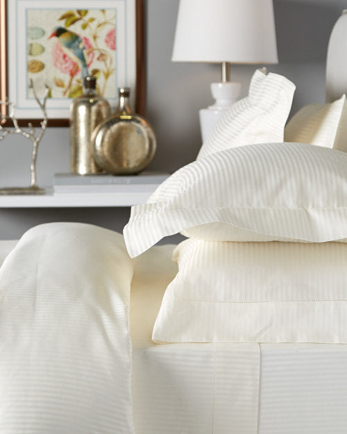 Bellino Millerighe 300TC Egyptian Cotton Individual Sheets - Natural Linens