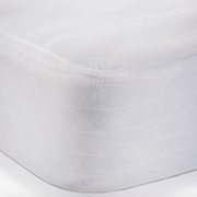 Dreamtex Greenzone - Smooth Organic Cotton Waterproof Mattress Protector - Natural Linens