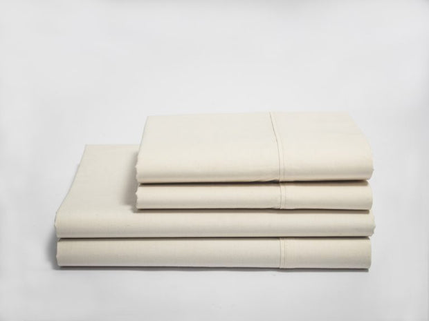 Organics and More Naturesoft Organic Cotton 280 TC Sateen Sheet Sets - Natural Linens