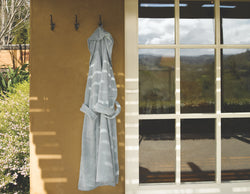 Legna Terry Bath Robe - Natural Linens