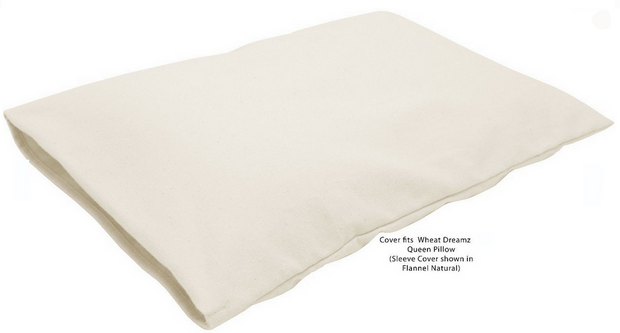 Bean Products Wheat Dreamz Organic Cotton Flannel Pillow Cover - Natural Linens