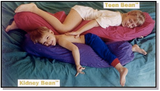 Bean Products Veggie / Kapok Body Pillow - Natural Linens