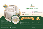 Sleep & Beyond myWoolly Pillow - Natural Linens