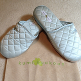 kumi kookoon Quilted Silk Slippers - Natural Linens