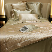 kumi kookoon Dream Collection Summer Weight Silk Blanket & Throw - Natural Linens