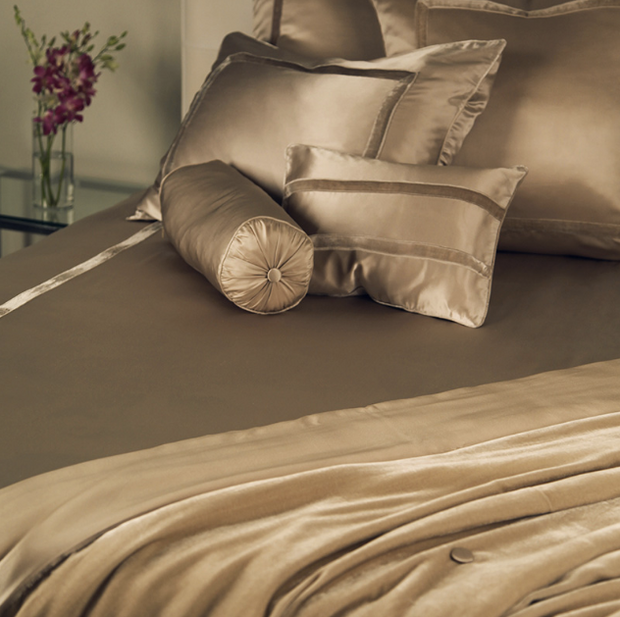 kumi kookoon Silk Velvet Pillow Covers - Natural Linens