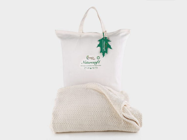 Organics and More Naturesoft Organic Cotton Blankets - Natural Linens