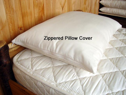 Holy Lamb Organics Zippered Pillow Protectors - Natural Linens