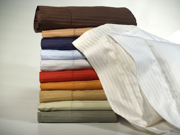 Bellino Millerighe 300TC Egyptian Cotton Pillowcases - Natural Linens