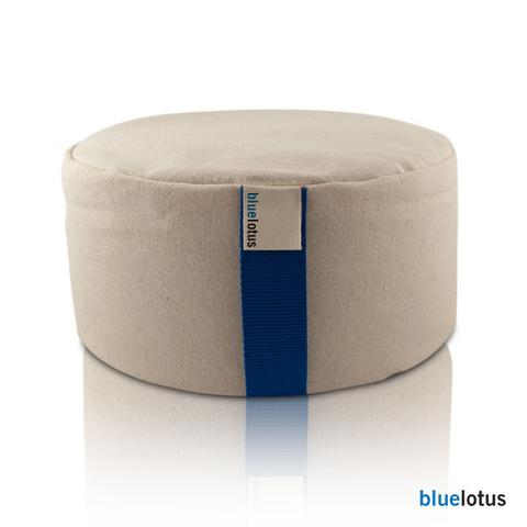 Blue Lotus Meditation Cushion - Natural Linens