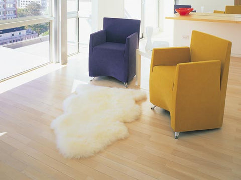 Bowron Longwool Sheepskin Rugs - Natural Linens