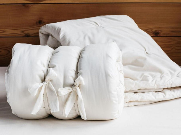 Holy Lamb Organics Dual Weight Comforters - Natural Linens