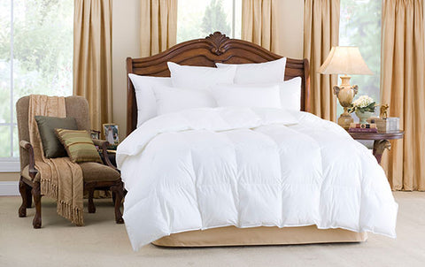 Downright Nirvana 700+ Polish White Goose Down Comforters - Natural Linens