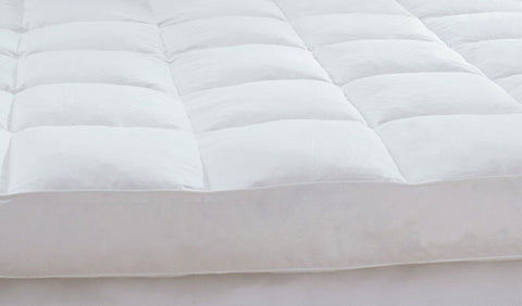 Downright Deluxe 600+ White Goose Featherbed - Natural Linens