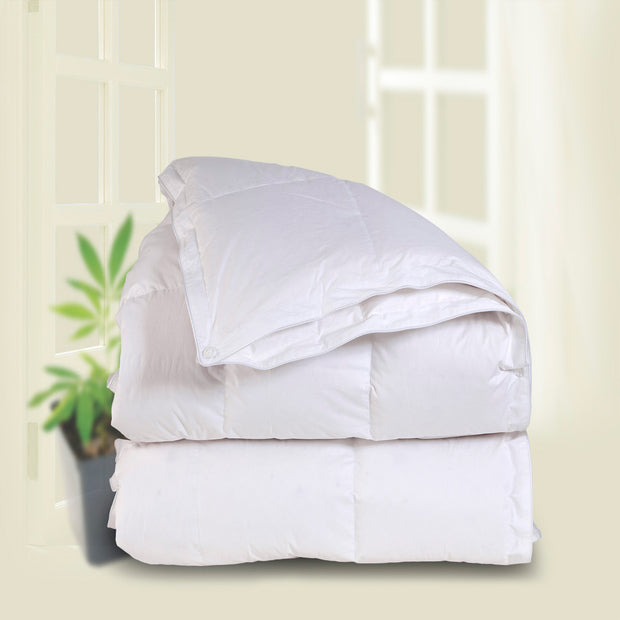 Downright 3-in-1 Anytime 600+ All Season White Goose Down Comforter - Natural Linens