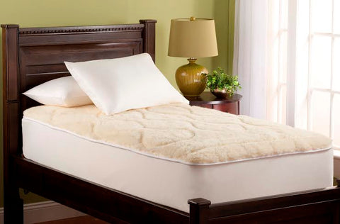 Downright Wool Mattress Pad - Natural Linens
