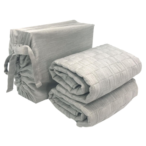BedVoyage eco-mélange™ Bamboo Rayon/Viscose, Cotton Blend Quilted Standard Shams - Natural Linens