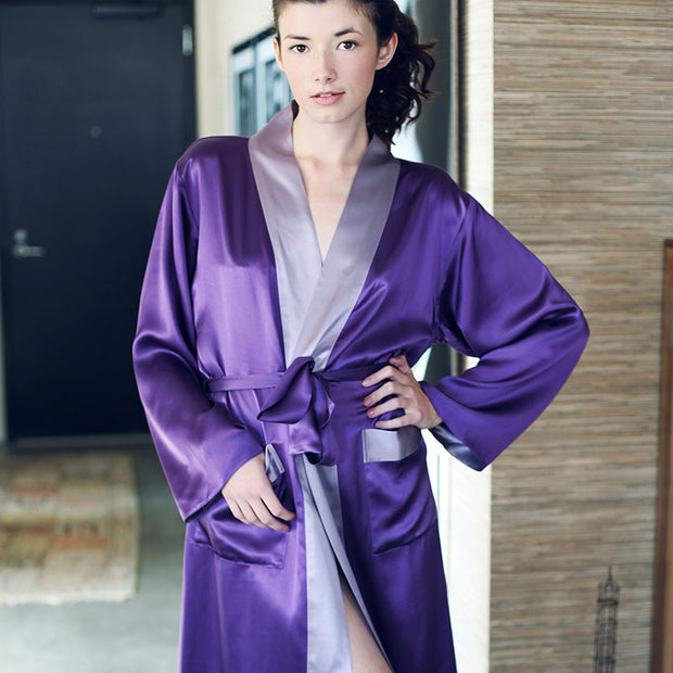 kumi kookoon Long Robe - Natural Linens