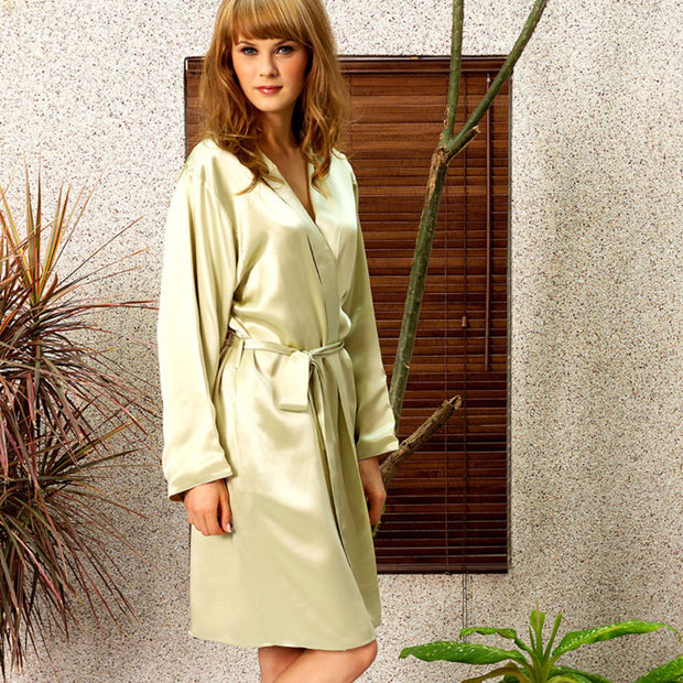 kumi kookoon Short Robe - Natural Linens