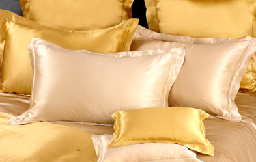 kumi kookoon Classic Charmeuse Silk Pillow Sham - Natural Linens