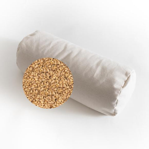 Sachi Organics Buckwheat or Millet Hull Neck Pillow Cylinder - Natural Linens