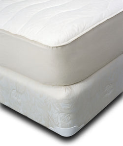 Natura Washable Fitted Wool & Cotton Mattress Pad - Natural Linens