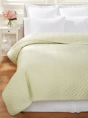 Bellino Raso Quilted Coverlet - Natural Linens