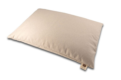 Sachi Organics Buckwheat & Millet Support Hull Pillows - Natural Linens