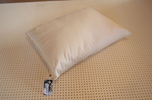 Sachi Organics Latex and Premium Eco-Wool Standard Pillow - Natural Linens