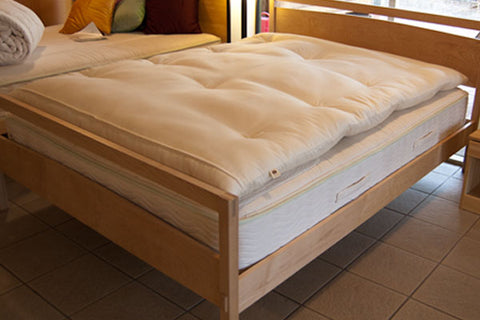 Sachi Organics Premium Eco-Wool Mattress Topper - Natural Linens