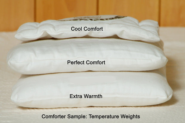 Holy Lamb Organics Natural Wool Comforters - Natural Linens
