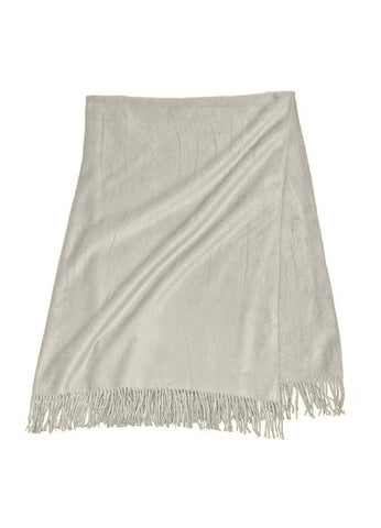 Yala Designs Silk Fleece Throw - Natural Linens