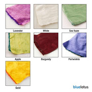 Blue Lotus Dupioni Silk Meditiation Cushions - Natural Linens