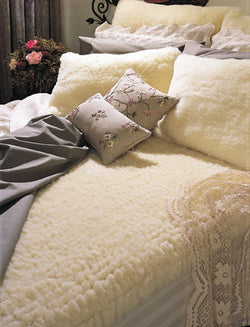SnugFleece II Wool Mattress Pad - Natural Linens