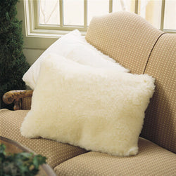 SnugFleece Deluxe Wool Pillow Sham - Natural Linens