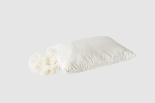 "Holy Lamb Organics Woolly ""Down"" Eco Wool Pillow - Natural Linens"