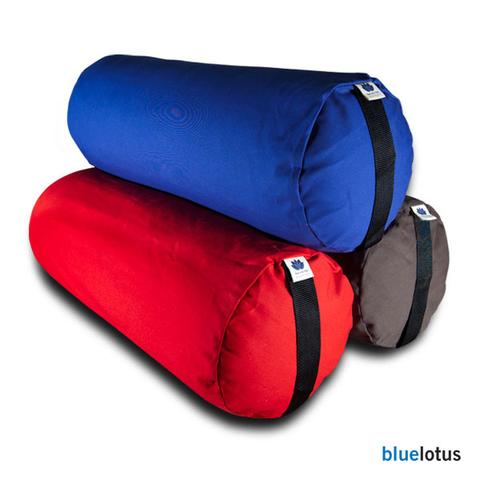 Blue Lotus Round Yoga Bolster - Natural Linens