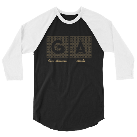 Gym Assassins Baseball Raglan  - AK Edition