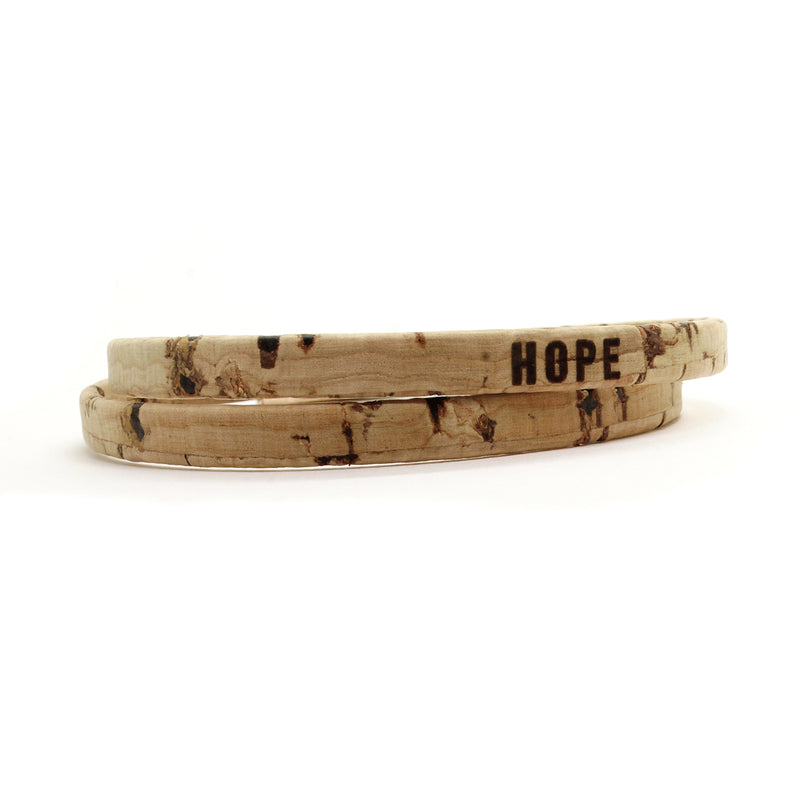 HOPE Double Wrap Cork Bracelet