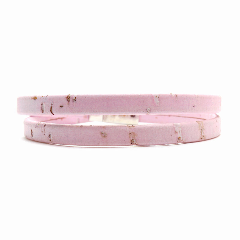 Light Pink Double Wrap Cork Bracelet
