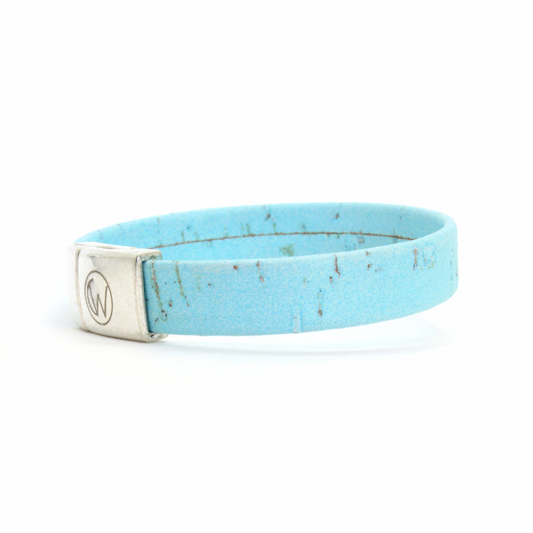 Light Blue Standard Cork Bracelet